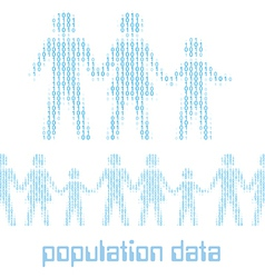 Digital people family group Data vector image