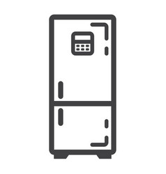 fridge line icon refrigerator and appliance vector image