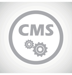 Grey CMS settings sign icon vector image