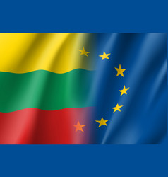 symbol lithuania is eu member vector image vector image