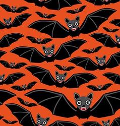 Vampire bats on orange background vector image