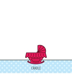 Baby cradle bed icon Crib or cot sign vector image vector image