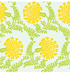 Background with yellow flowers vector image vector image
