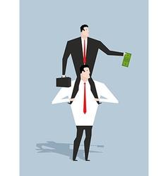 Business motivation boss stimulates manager job vector