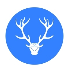 Deer antlers horns icon in black style isolated on vector image