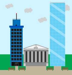 Financial business district vector image vector image