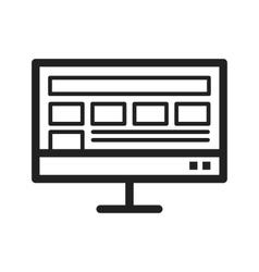 Layout Display vector image
