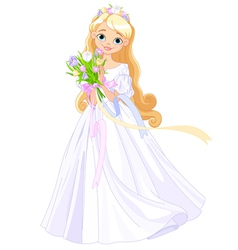 Spring princess vector image vector image
