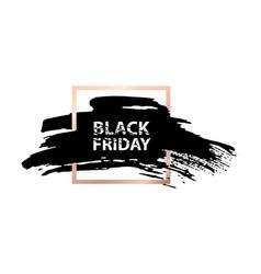 Black friday sale banner grunge spot in golden vector