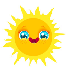 funny sun with smile vector image