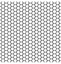 002 black and white basic hexagonal shape vector image