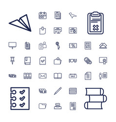 37 paper icons vector