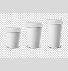 3d white realistic disposable closed paper vector