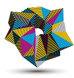 Abstract asymmetric colorful stripy object vector