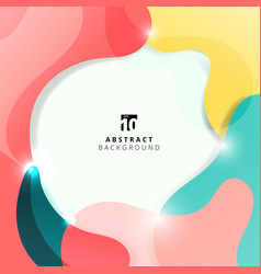 abstract colorful elements and fluid trendy vector image