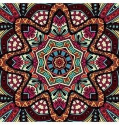 Abstract geometric fashion tribal ethnic seamless vector image