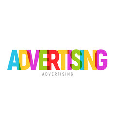 advertising word text concept colorful vector image