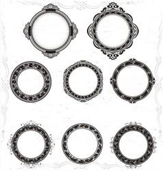 Artistic Circular Frame vector image