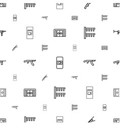 Automatic icons pattern seamless white background vector