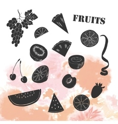 Background with fruit vector image