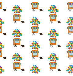 Balloons shop seamless pattern vector