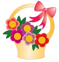 Basket flower vector image