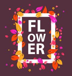 Beautiful flower frame banner or invitation vector