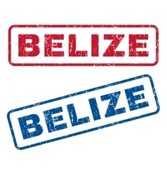 Belize Rubber Stamps vector