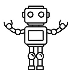 Bot robot icon outline style vector