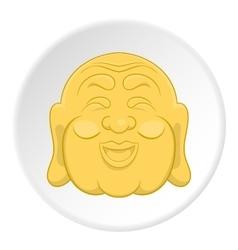 Buddha icon flat style vector