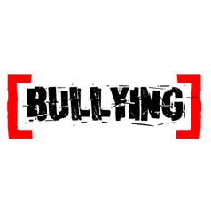 Bullying sticker stamp vector