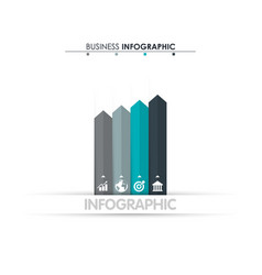business data process chart abstract elements of vector image