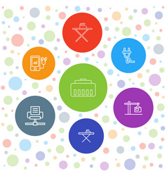 Cable icons vector