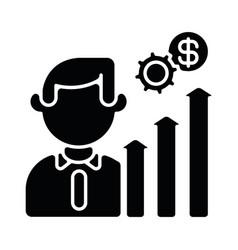 Career development black glyph icon vector