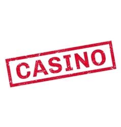 Casino rubber stamp vector
