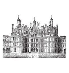 chteau de chambord the htel de ville at compigne vector image
