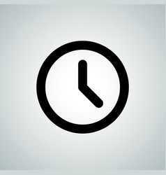 clock timer line icon vector image