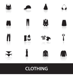 clothing icons eps10 vector image