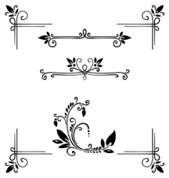 Decor elements vector