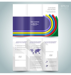 dimensional colored line brochure design template vector image
