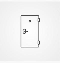 door icon sign symbol vector image