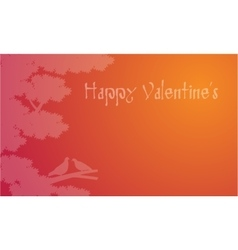 Dove on tree Valentines backgroudns vector