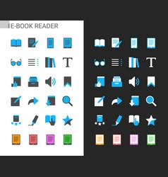 E-book reader icons vector