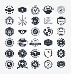 Emblems badges and retro seals set - blazons vector