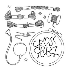 Embroidery set vector