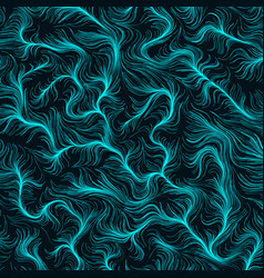 fiery cyan hairs background abstract vector image