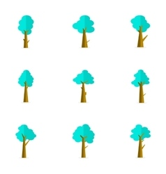 Flat of tree set style vector