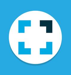 Full screen icon colored symbol premium quality vector