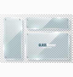 glass frames with metal holder collection vector image