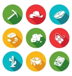 Gold rush Icons Set vector image